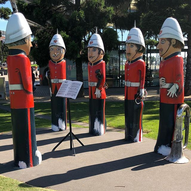 The local band in #geelong on the foreshore.