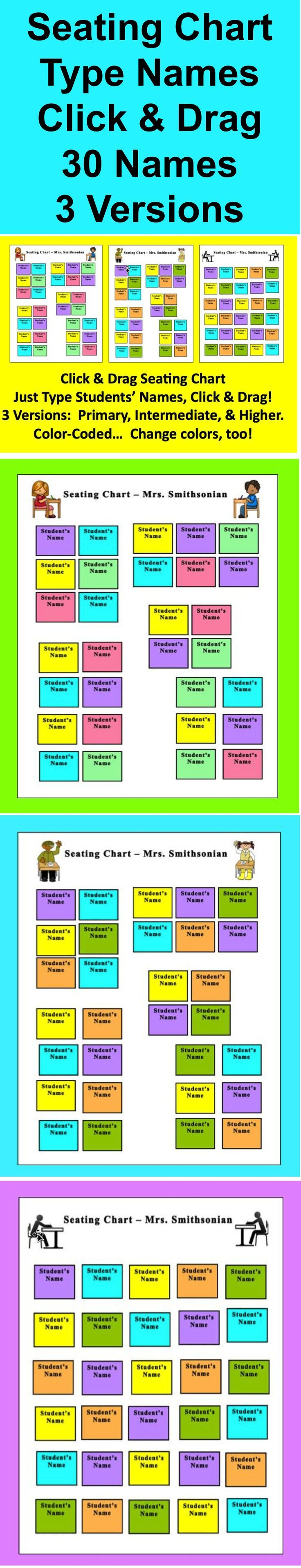 The 25 best Seating chart classroom ideas – Free Classroom Seating Chart Maker
