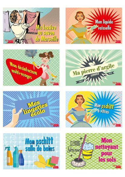 Etiquettes gratuites à imprimer pour vos produits ménagers fait-maison - Femme Actuelle
