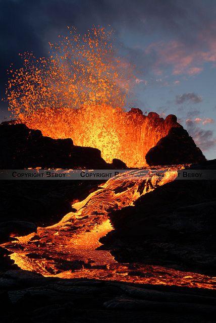 Volcan Piton de la Fournaise, Ile de la Réunion, FRANCE.
