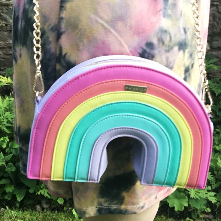 Pastel rainbow bag, so cute and kawaii x