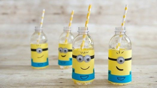 DIY Minion Water Bottle Label For A Kids' Party
