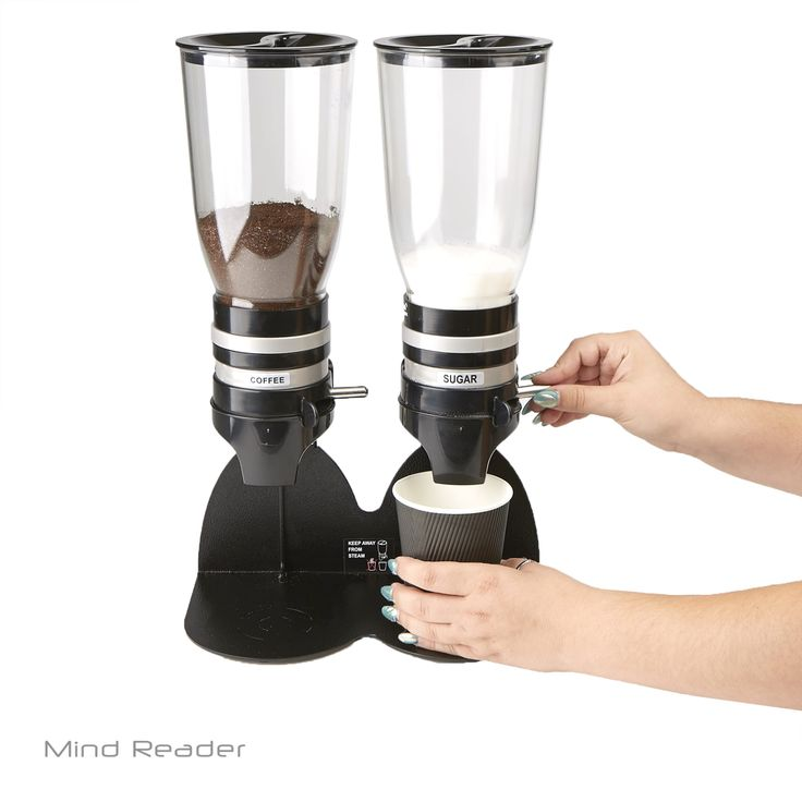 Mindreader Mind Reader Metal Double Standing Base Coffee Dispenser (Black)