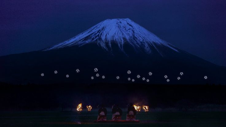 Sky Magic Live at Mt.Fuji : Drone Ballet Show by MicroAd, Inc.