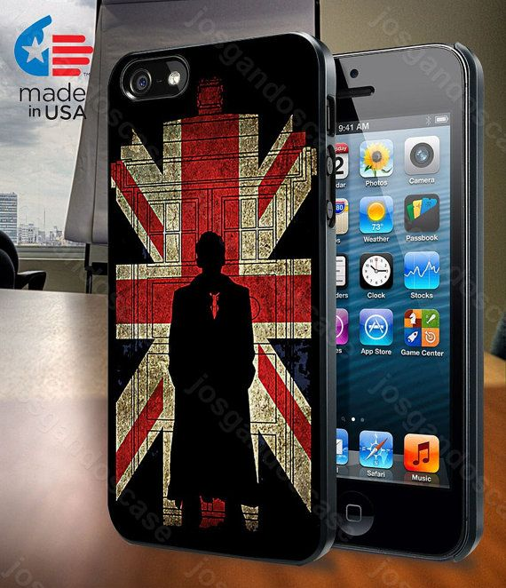 Sherlock Holmes and Union Jack Flag for iPhone by josgandoscase, $14.79