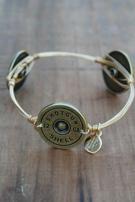 This is a good reason to do a little target practice. I need a shotgun bracelet!! .#bourbonandboweties