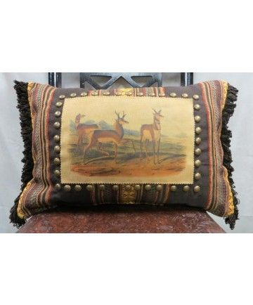 Captivating Double D Ranch Antelope Pillow