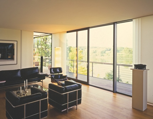 sliding doors with balcony & wire guards with handrail