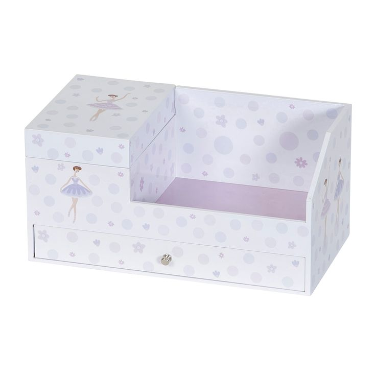 Mele & Co. Joss Girls' Musical Ballerina Jewelry Box & Organizer - White