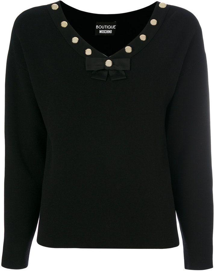 Moschino studded collar top