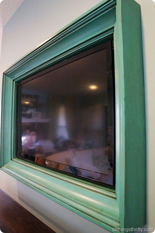 ana white build a tv frame tutorial feature by all things thrifty free