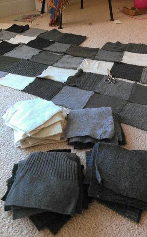 sweater quilt (upcycle)