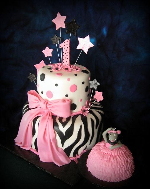 Ballerina's 1st Birthday Cake and Ballerina Mouse Smash Cake ~ adore!