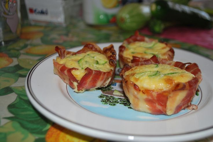 Bacon and zucchine omelette ☺ Frittatine pancetta e zucchine!