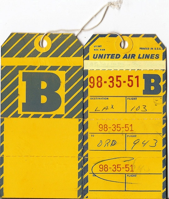 United Airlines B tag
