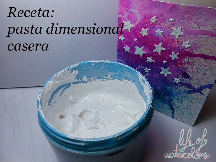 Life of watercolors: Pasta dimensional casera