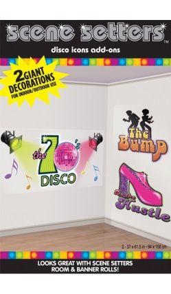 """1 Pack De Décorations Murales """"Disco 70'S"""""""