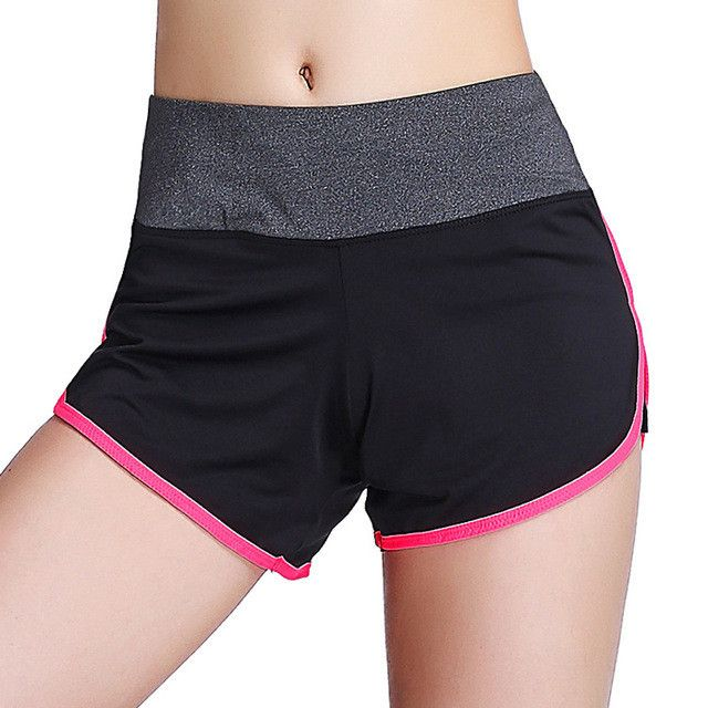 Women Quick Dry Sports Running Shorts With Lining, 5 Colors Breathable Fitness Gym Shorts Pants Outdoor Training Sports Trousers