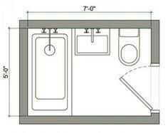 Image result for 5x7 bathroom layout