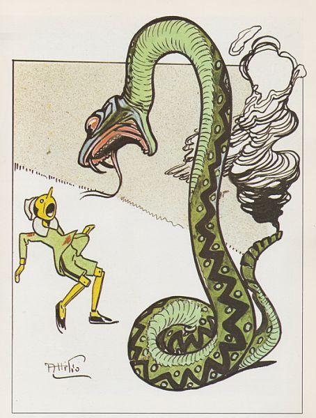 attilio mussino - serpente