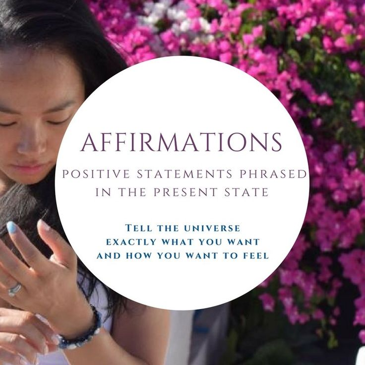 Tell the universe what you want! Blog post on affirmations and how to start using them.