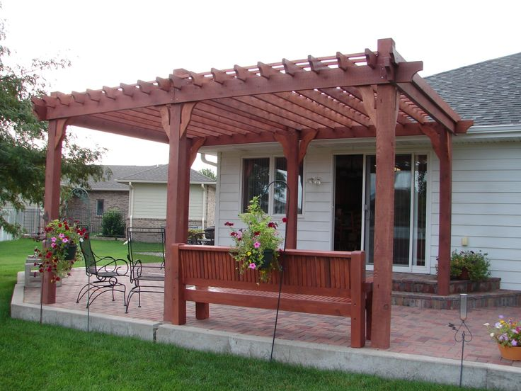 Click Now...This Pergola was built by Mike McCann along with help from wife, Robyn, and the top 2x2 slats screwed down by son Jake. Roughly 12 foot x 16 foot. Built summer of 2016, we have already used the patio more since it was built than in the previous 10 years together. Western Red Cedar was used throughout. All pieces were cut with small hand, battery, or electric saws and one small table saw that I bought for $75 at a garage sale. Total cost for Pergola was about $1,600.
