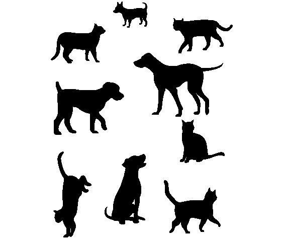 Download this Dogs and Cats Stencil Pattern and other free printables from MyScrapNook.com