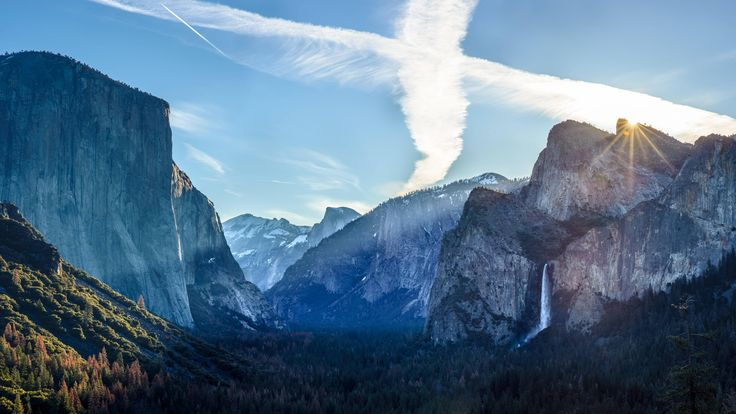 Sunrise over tunnel view Yosemite NP. Lots of detail for the 4k monitors out there. [OC] [36002025] #reddit