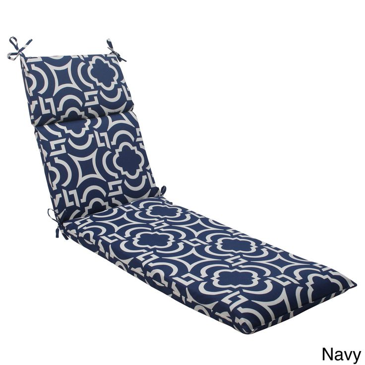 Pillow Perfect Outdoor Carmody Chaise Lounge Cushion | Overstock.com  Shopping   The Best Deals