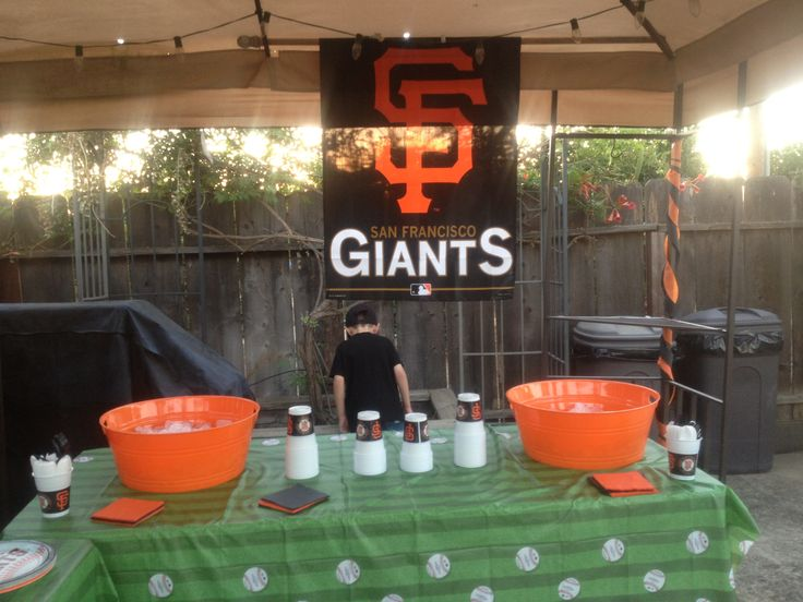 Birthday Party Ideas San Francisco Giants Baseball