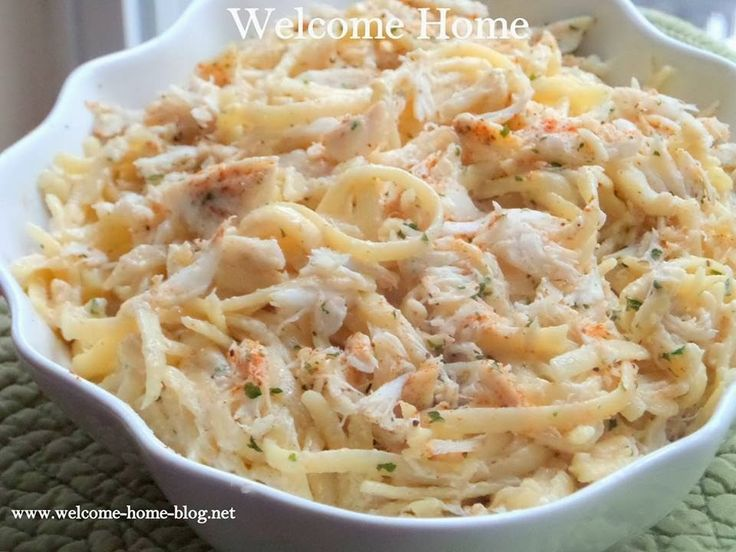 Welcome Home Blog: Crab Linguine in Parmesan Garlic Sauce