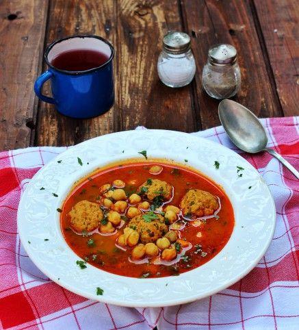 Csicseriborsó-leves húsgombóccal Recept képpel - Mindmegette.hu - Receptek