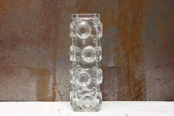 Smalandshyttan   Josef Schott   Art Glass Vase   Sweden   1960's   Space Age   Retro   Modernist   Mid Century   Scandinavian