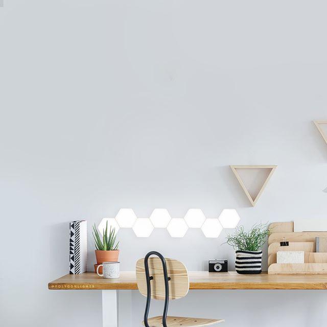 Touch Lamp Au Magnetic Hexagon Lights Touch Lamp Desk Led Touch Night Light Bedside Lamp In 2020 Lights Desk Setup Tile Design
