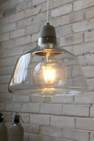 Concrete Top Glass Lights. Scandinavian style with Industrial twist - Fat Shack Vintage - Fat Shack Vintage