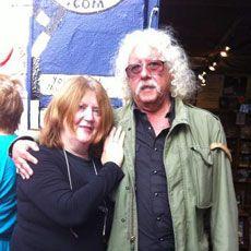 Mazz with Arlo at Dingle Record Shop. www.dinglerecordshop.com