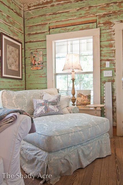 LOVE, LOVE, LOVE, Cozy shabby chic chair & THE WALLS