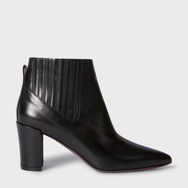 Women's Black Calf Leather 'Ladbroke' Ankle Boots