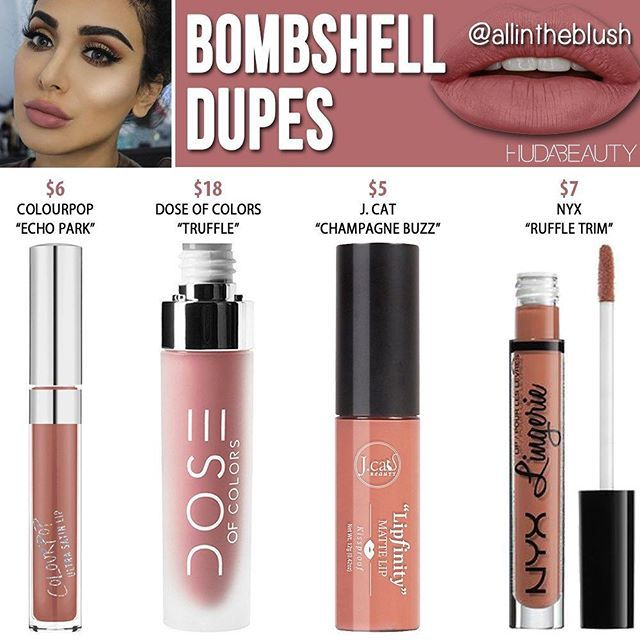 WEBSTA @ allintheblush - THE 3RD @hudabeauty DUPE IS HERE! #Bombshell Dupes  Please let me know what Huda Beauty shades you want to see duped in the comments! More details