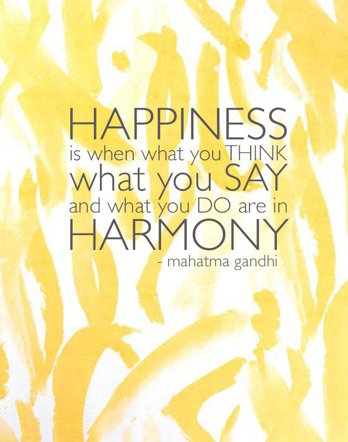 happiness....harmony