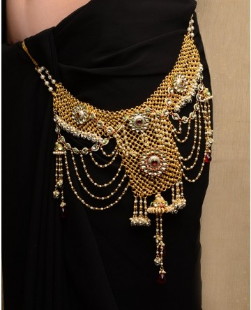 Mesh Sari Belt with Jhumki Drop