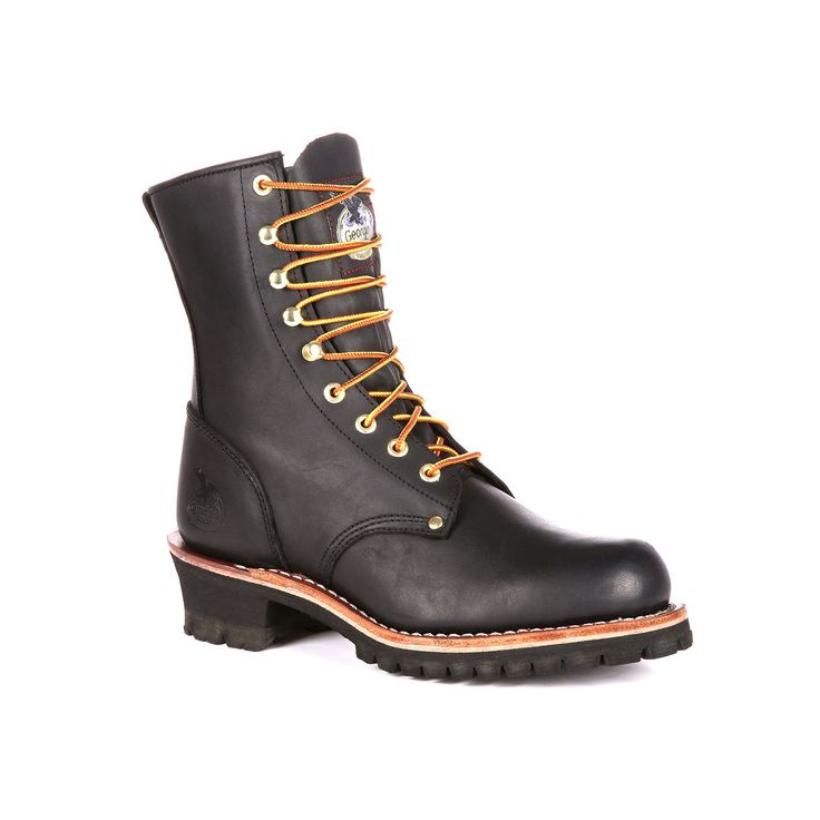 Georgia Boot Loggers Men's 8-in. Work Boots, Size: medium (12.5), Dark Brown