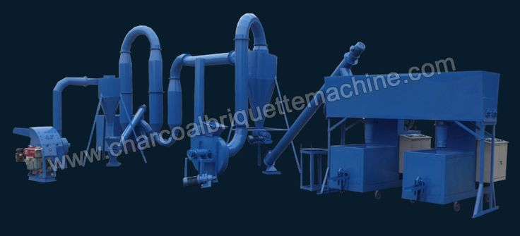 Charcoal production line is used to make high quality charcoal for heating, warming, cooking and other industrial use, the whole charcoal production line mainly includes four processes: biomass material crushing, sawdust drying, charcoal briquetting and carbonization. The produced charcoal is featured with high density and good flammability, alternative to firewood and coal. E-mail: briquettepress2013@gmail.com