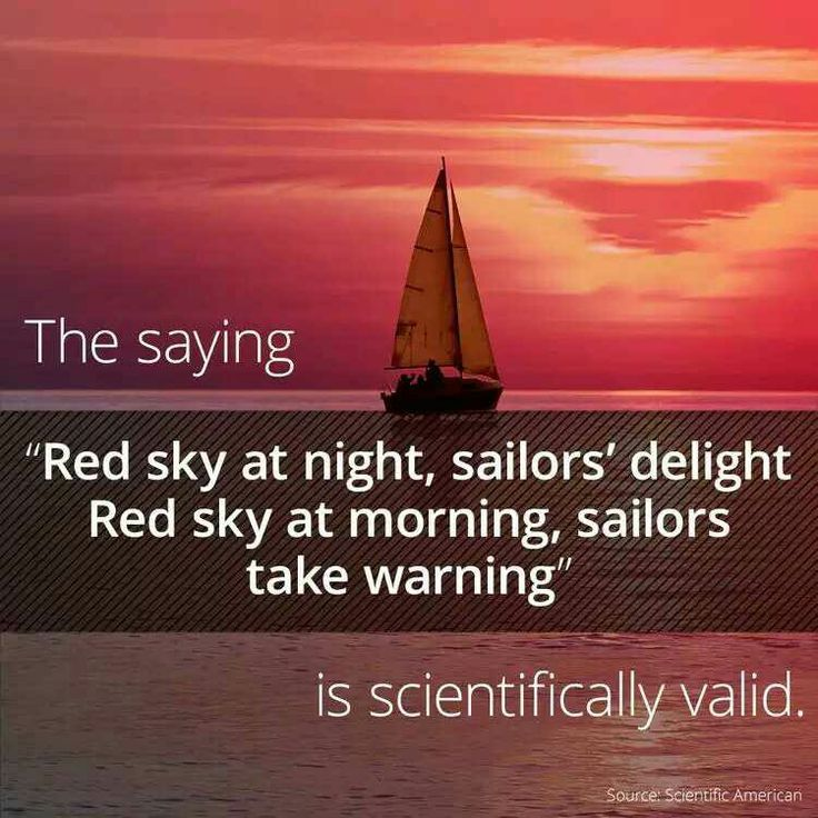 Is Red Sky At Night Sailors Delightred Sky In Morning - 736×736