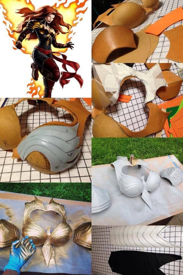 Phoenix Armor made by Yaya Han http://www.yayahan.com/ http://alexinxv.deviantart.com/art/Phoenix-Force-Marvel-Avengers-Alliance-debut-388892876