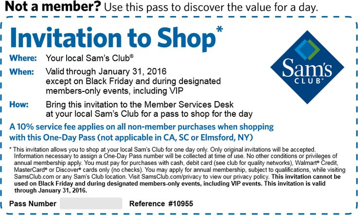 Pinned December 8th: Free 1-day entry pass to shop #Sams Club #coupon via The #Coupons App