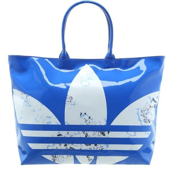 adidas Originals Tote bag (540 ZAR) ❤ liked on Polyvore featuring bags, handbags, tote bags, blue, leopard print tote, animal print handbags, leopard print tote bag and blue purse