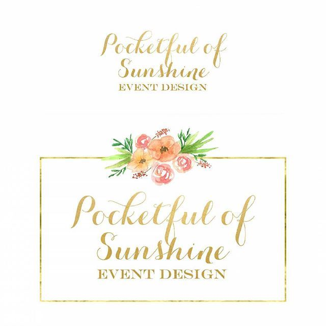 I recently had the privilege of working with @pocketfulofsunshineevents to add a little watercolor to their existing logo.