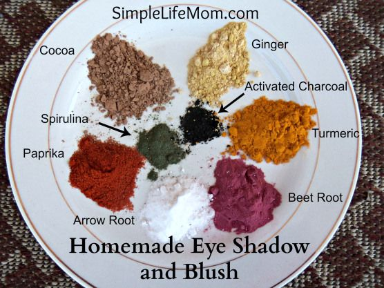 Homemade Eye Shadow and Blush with Labels - get rid of all the toxins and use natural makeup  - #beauty