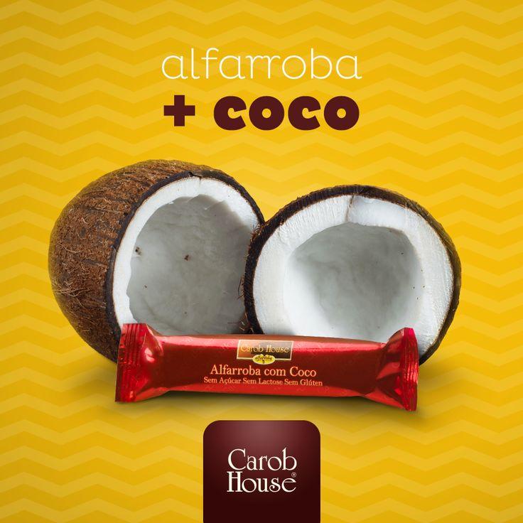 Alfarroba com Coco: sem glúten, sem açúcar, sem leite e com um sabor delicioso e inigualável!  Compre online e receba em casa!   Acesse: https://www.emporioecco.com.br/alfarroba-com-coco-sem-gluten-sem-lactose-75g-3-unidades-25g-carob-house.html